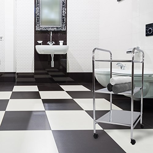 Kitchen Storage Units On Wheels: Casa Pura® Chrome 3 Tier Storage Shelf Trolley With Wheels