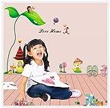 Stickers muraux château fantaisie printemps histoire maternelle fillette chambre enfant chambre sticker mural détachable