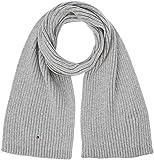 Tommy Hilfiger Herren Schal PIMA Cotton Cashmere Scarf, Grau (Grey Heather 047), One Size (Herstellergröße: OS)