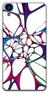 The Racoon Grip color web hard plastic printed back case / cover for HTC Desire 820