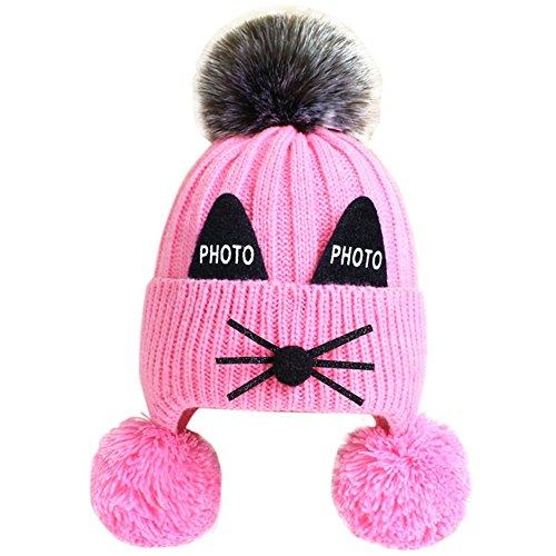 Feature:   Dieser Hut hat 5 Farben zu wählen, passen für Jungen und Mädchen, eine wirklich gute Wahl für Ihr Baby oder Sie können es auch für die Kinder Ihrer Freunde als Weihnachtsgeschenke, Geburtstag, Neujahr oder andere Festgeschenke kaufen.  ...