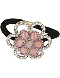 Pink Rose - Princess Collection Multicolour Alloy Stone Hair Band For Women/Girls
