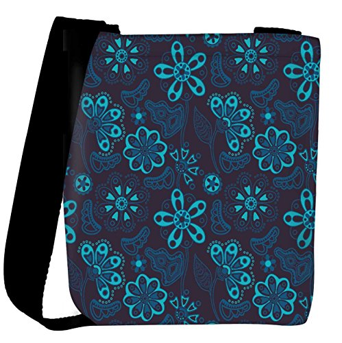 Snoogg colorful floral seamless pattern in cartoon style seamless pattern Womens Carry Around Cross Body Tote Handbag Sling Bags