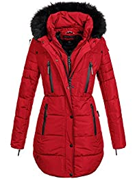 490b0f1d9102 Marikoo Warme Damen Winter Jacke Winterjacke Parka Stepp Mantel Lang B401