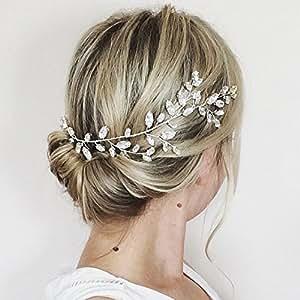 aukmla cristal swarovski cheveux vigne couronne de mariage pour demoiselle d 39 honneur et honneur. Black Bedroom Furniture Sets. Home Design Ideas