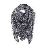 TianWlio Frauen Schals Frauen Neue Solid Vintage Long Cashmere Wolle Schal Soft Halstuch