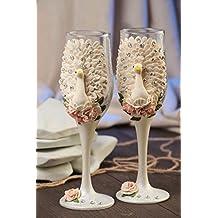 Copas para boda originales hechas a mano estilosos bonitas 2 piezas 200 ml