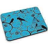 Gabbie per Uccelli 10006, Birdcage, Mouse Pad Tappetino per Mouse Mouse Mat con Disegno Colorato Antiscivolo in Gomma di Base Ideale per Giocare 250 x 190mm.