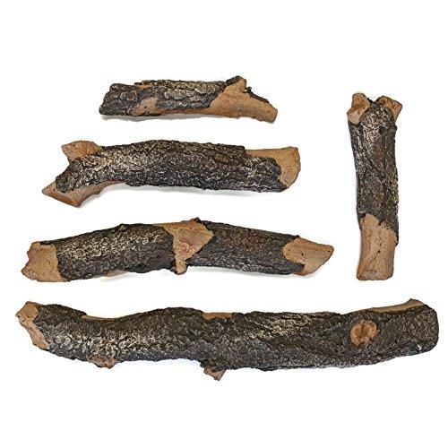 Midwest Herzen Deluxe Deko-Zweige und Zweig Set | gegossen aus Echt Protokolle und Handbemalt in USA Blue Pine 5-Piece -