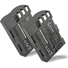 2x CELLONIC® Batería premium para Nikon D50 Nikon D70s Nikon D80 D90 D200 D300 D300S (2000mAh) EN-EL3e bateria de repuesto, pila reemplazo, sustitución