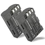 2x CELLONIC Batterie premium pour Nikon D50 Nikon D70s Nikon D80 D90 D200 D300 D300S (2000mAh) EN-EL3e Batterie de rechange, Accu remplacement