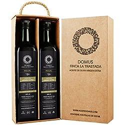 Domus Finca La Trastada Aceite de Oliva Virgen Extra, Variedad Picual - Paquete de 2 x 500 ml - Total: 1000 ml