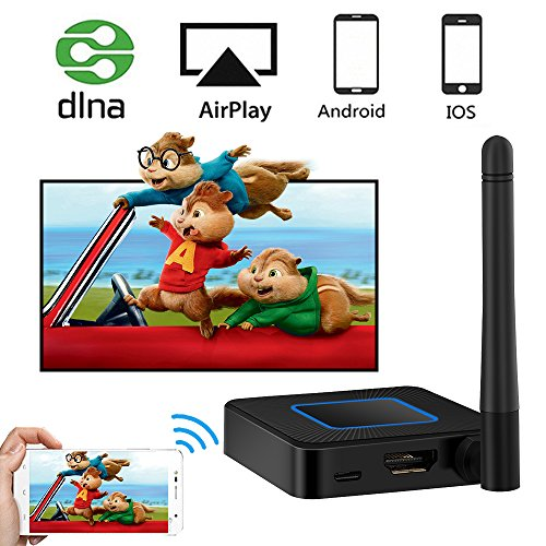 weton Wireless HDMI Dongle, 5G/2.4G Miracast Dongle WiFi Wireless Display Dongle WLAN 1080P TV Bildschirm Mirroring Adapter, HD&AV Dual Output Support Airplay DLNA für IOS/Android/ Windows/Macos