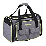 Pet carrier, DADYPET Dog Carrier,Cat Carrier, Expandable Travel Pet Carrier Airline Approved Soft Sided Foldable 600D Material with Fleece Mat Large Space Easy Carry on Luggage with Pockets to Store Goods