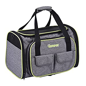 DADYPET-Pet-carrier-Expandable-Travel-Cat-Dog-Carrier-Airline-Approved-Soft-Sided-Foldable-600D-Material-with-Fleece-Mat-Large-Space-Easy-Carry-on-Luggage-with-Pockets-to-Store-Goods