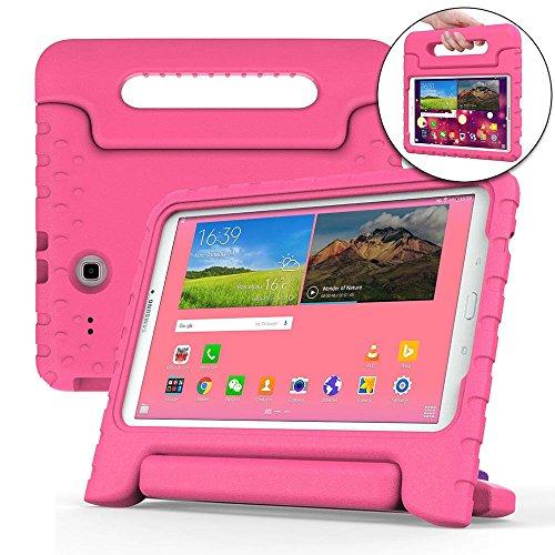 Samsung Galaxy Tab E 9.6 Hülle, [2-in-1 Griffige Tragehülle & Stand] COOPER DYNAMO Robuste Strapazierfähige Sturz- und Kindersichere Hülle + Stand & Displayschutz -Jungs Mädchen Erwachsene Ältere Pink -