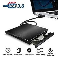 External DVD CD Drive,Valoin High Speed USB 3.0 Data Transfer Ultra-Slim Portable External CD DVD Burner Superdrive For PC Desktop Laptop