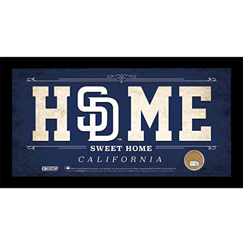 mlb-san-diego-padres-home-sweet-home-sign-with-game-used-dirt-from-petco-park-10-x-20-blue