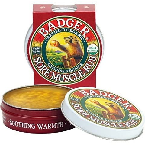 Badger Muscle Rub Organic Certified Organic Cayenne & Ginger Soothes