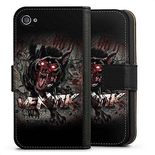 Apple iPhone X Silikon Hülle Case Schutzhülle Vektik Fanartikel Merchandise Hellhound Sideflip Tasche schwarz