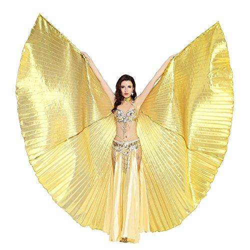 Dance Fairy Bauchtanz Isis Flügel ,Einschließlich Stöcke,Gold (Tanzen Bh Dance Belly Tänzerin)