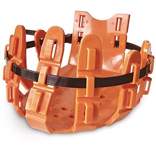 Vet-Way Hufschutz mit 10 Kabelbindern (Medium) (Orange)