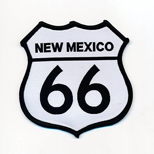 48 x 48 mm Route 66 USA New Mexico Biker Trucker Patch Aufnäher Aufbügler 0791 A