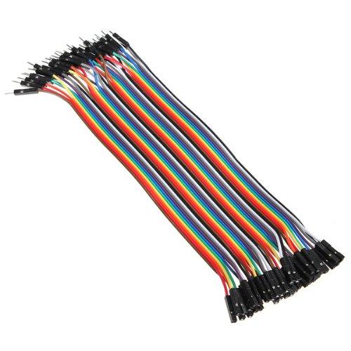 40x 20cm Male - Female jumper wire cable Kabel Steckbrücken Drahtbrücken Arduino -