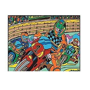 Colorvelvet 37x 28cm Motocicleta Sistema de Dibujo para Colorear (tamaño Mediano