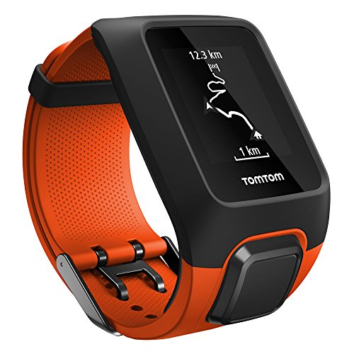 TomTom Adventurer GPS Multisport Outdoor Watch + Route exploration + Heart Rate Monitor + 3GB Music Storage + Inbuilt Barometer & Compass – Orange
