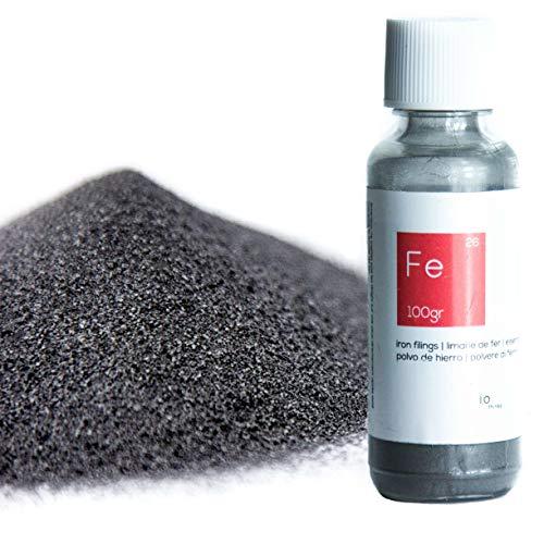 100 g Polvo de hierro de calidad superior [Paquete resellable incluido