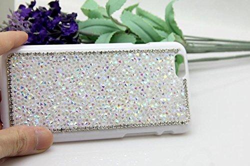 Sunroyal® Creativa 3D Dura Sparkly Glitter Bling Cristal Brillantini Diamanti Rhinestones Nero Protettivo Back Custodia Case per Apple iPhone 6 / 6S 4.7 pollici , Lusso Strass Shiny Protettiva Cassa d Modello 02