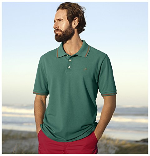 Jan Vanderstorm Herren Poloshirt SIDAR in Übergröße   Große Größen   Plus Size   Big Size   XL XXL XXXL 4XL 5XL 6XL 7XL 8XL 9XL 10XL Grün