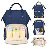 #8: Motherly Diaper Bags for Mom and Baby Stylish Maternity Backpack (Navy blue)