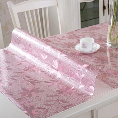 Nappe en Verre Souple PVC Tapis de Table Givré Tapis de Table à Thé Tapis en Plastique Imperméable à l'Huile Anti-Chaud Lisse Nappe de Mode Lisse ( Couleur : Style2 , taille : 80*80cm )