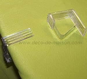 Lot de 4 pinces metal nappe