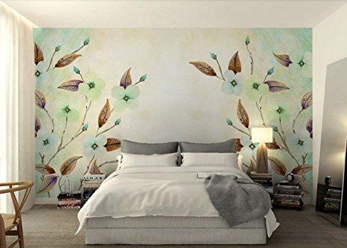 Fototapete Vlies Tapete 3D wallpaper Wanddeko Design Moderne Anpassbare Wandbilder Retro Gemälde Blume Lässt Nordamerika Moderne Tv Hintergrund Wand