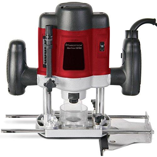 Oberfräse Fräsmaschine 1200W inklusive Fräser- & und Werkzeugset und Koffer TÜV-Rheinland GS geprüft - 2
