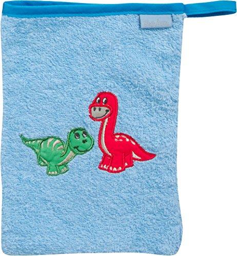 Playshoes 340087 Waschhandschuh Dino, blau
