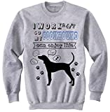 Photo de TEESQUARE1st Men's Coonhound Can Enjoy Lifer Grey Sweatshirt par TEESQUARE1st