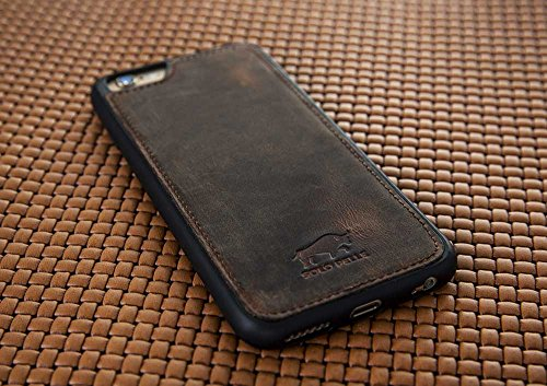 "Solo Pelle iPhone 6 Plus / 6S Plus Case Lederhülle Ledertasche Backcover "" Flex "" in Vintage Braun Vintage Braun"