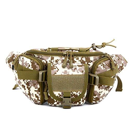 Outdoor Camouflage Handytasche / Taktische Military Taille Pack Große Wasserdichte Fanny Tasche Molle Hip Tasche für Outdoor Wandern Camping Trekking Running C