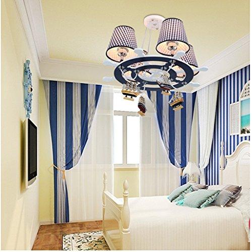 HOME Kind-Raum-Kronleuchter-kreative Karikatur-Kunst-Augenschutz-Jungen-Schlafzimmer-Lampen - 3