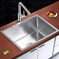 Auralum® Set Lavello In Acciaio Inox 50*40*22CM Nessun Lavello Da Cucina