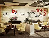 Tantoto 3D WallStickers&Murals Wallpaper Retro 80S Wallpaper Western Restaurant Cafe Fresco Lounge Bar Und Grill Dessert Shop Wallpaper