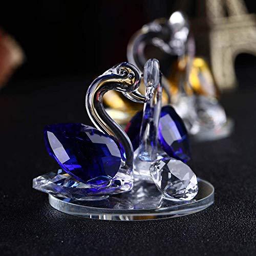 chwan Hochzeits Dekor Briefbeschwerer Figur Geschenk Basteln Heim Dekor für Heim Dekoration - Blau ()
