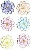 Simplicity Sheer verschiedene Blumen Multi zum Aufbügeln