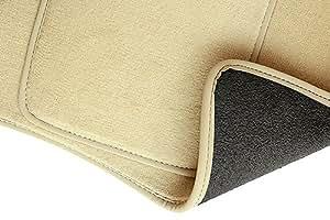 PREMIUM Tapis de sol - Set de 3 tapis de pieds - beige - velours tapis automobiles - 5902311254866