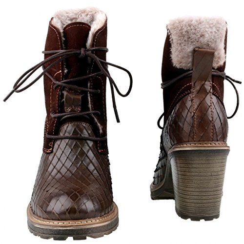 Tamaris Damen 25217 High-Top Braun (Mocca Comb 303)