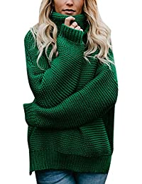 d9857f45 FidgetGear Women Long Sleeve Pullover Sweater High Collar Fashionable  Knitted Top